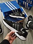 Мужские кроссовки Adidas Nite Jogger (черно-белые) 359PL, фото 4