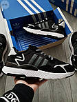 Мужские кроссовки Adidas Nite Jogger (черно-белые) 359PL, фото 5