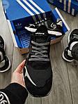 Мужские кроссовки Adidas Nite Jogger (черно-белые) 359PL, фото 6