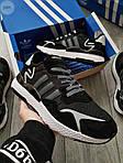 Мужские кроссовки Adidas Nite Jogger (черно-белые) 359PL, фото 7