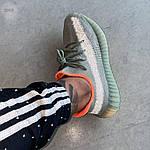 Мужские кроссовки Adidas Yeezy 350 v2 «Desert Sage» (серые) 364TP, фото 2
