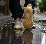 Мужские кроссовки Adidas Yeezy 350 v2 «Desert Sage» (серые) 364TP, фото 7