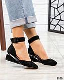 Черный, зеленый, оранж! Элитная коллекция! Шикарные туфли из итальянской замши, фото 5