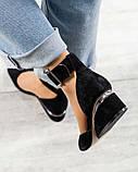 Черный, зеленый, оранж! Элитная коллекция! Шикарные туфли из итальянской замши, фото 6