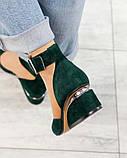 Черный, зеленый, оранж! Элитная коллекция! Шикарные туфли из итальянской замши, фото 9