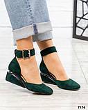 Черный, зеленый, оранж! Элитная коллекция! Шикарные туфли из итальянской замши, фото 8