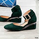 Черный, зеленый, оранж! Элитная коллекция! Шикарные туфли из итальянской замши, фото 10