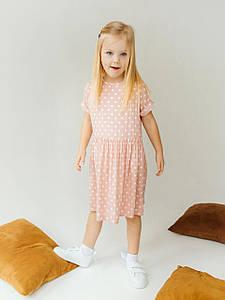 Летнее детское платье в горох 10021