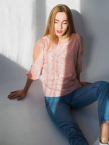 Легкая блузка в цветочный принт 2956