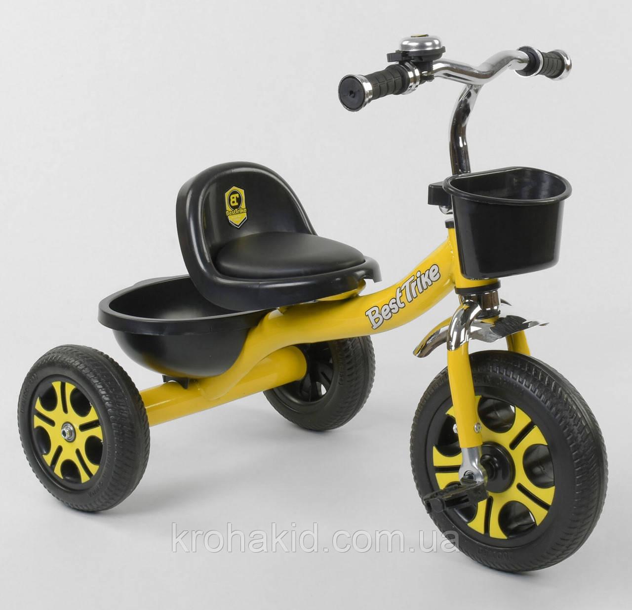 """Велосипед 3-х колёсный LM-9033 """"Best Trike"""", пено колесо, переднее d=26см, заднее d=20см, звоночек, 2 корзины,"""