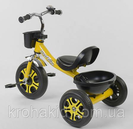 """Велосипед 3-х колёсный LM-9033 """"Best Trike"""", пено колесо, переднее d=26см, заднее d=20см, звоночек, 2 корзины,, фото 2"""