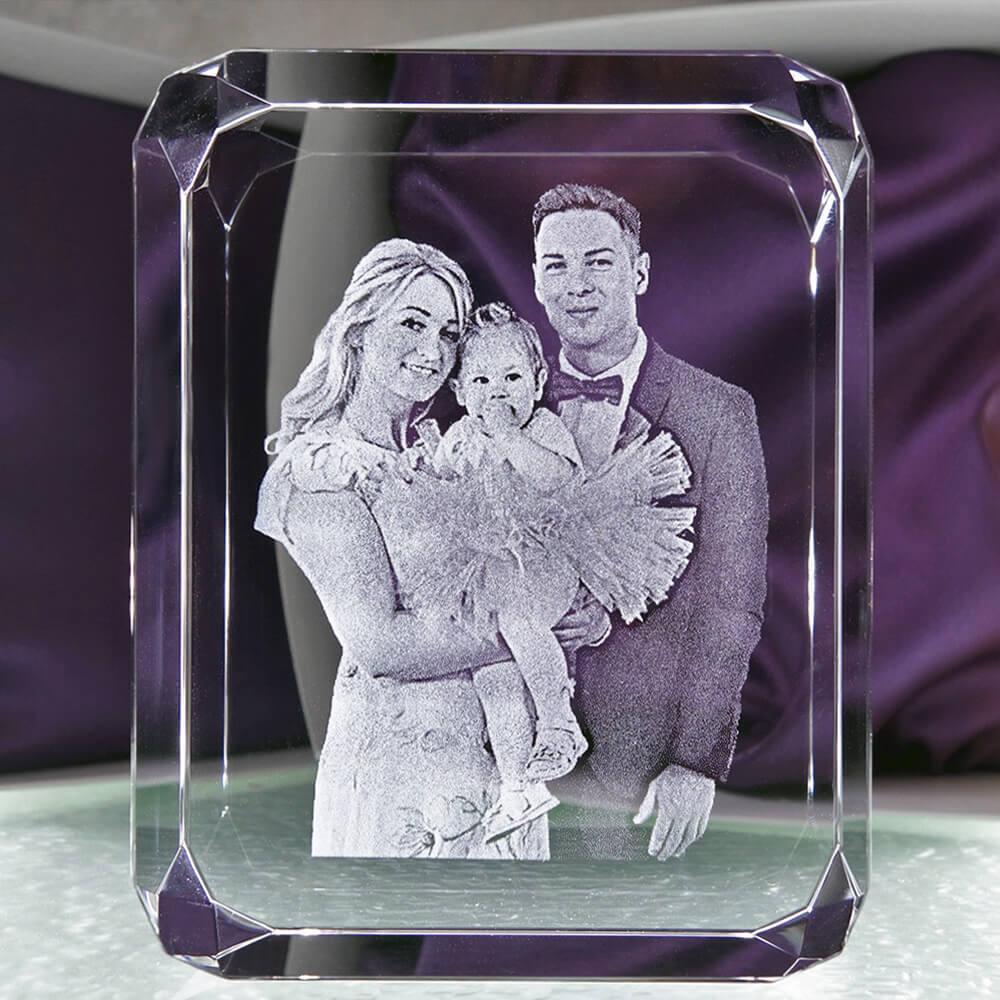 3D фотография в хрустальном кристалле - Подарок другу, подарок подруге, друзьям, брату, сестре, кумовьям