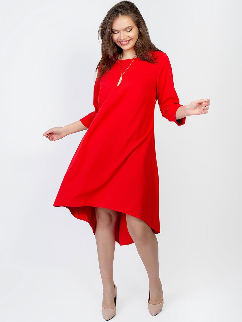 Платье size + с вырезом в форме сердца на спинке 2927