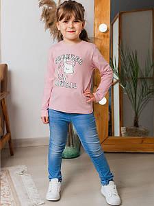 Трендовый детский лонгслив с единорогом 10024