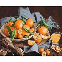 Картина по номерам Оранжевое наслаждение, размер 50*40 см, зарисовка полная