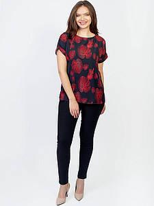 Яркая блузка size + с коротким рукавом 2967