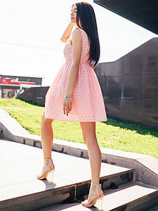 Свободное платье с выбитого батиста. Арт.2376