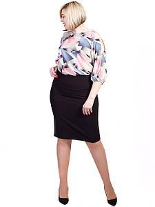 Легкая блузка size + с геометрическим принтом 2727