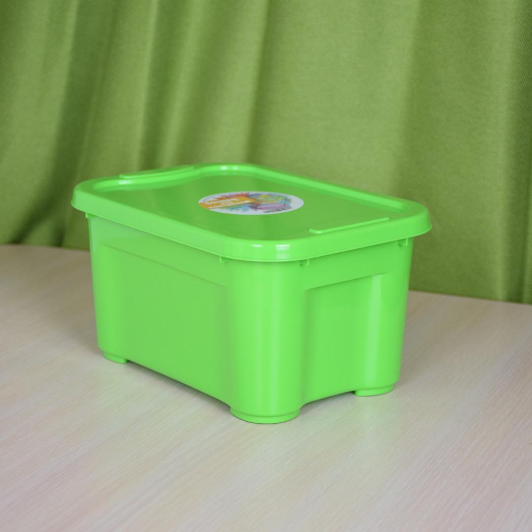 Ящик для хранения - 5 л с крышкой / Зеленый / 260х185х140 мм