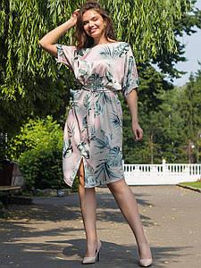 Оригинальное платье size + в тропический принт 2684