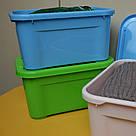 Ящик для хранения - 5 л с крышкой / Зеленый / 260х185х140 мм, фото 4