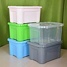 Ящик для хранения - 5 л с крышкой / Зеленый / 260х185х140 мм, фото 5