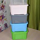 Ящик для хранения - 5 л с крышкой / Зеленый / 260х185х140 мм, фото 6