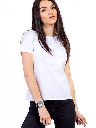 Стильная базовая футболка 2732, фото 2