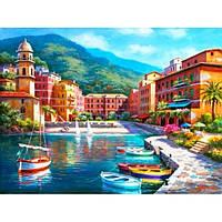 Картина по номерам  Утро в заливе, размер 50*40 см, зарисовка полная