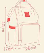 Сумка - рюкзак для мамы Панда, серый ViViSECRET, фото 8