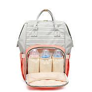 Сумка - рюкзак для мамы Полоска, фиолетовый ViViSECRET, фото 2