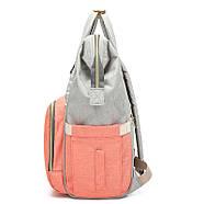 Сумка - рюкзак для мамы Полоска, фиолетовый ViViSECRET, фото 4