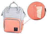 Сумка - рюкзак для мамы Полоска, фиолетовый ViViSECRET, фото 8
