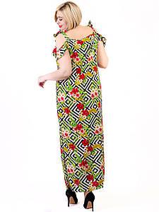 Платье size + с трендовым тропическим принтом 2701