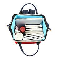 Сумка - рюкзак для мамы Красно - зеленый ViViSECRET, фото 7