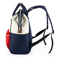 Сумка - рюкзак для мамы Красно - белый ViViSECRET, фото 3