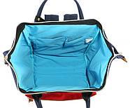 Сумка - рюкзак для мамы Красно - белый ViViSECRET, фото 6