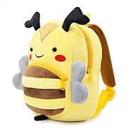 Рюкзак велюровый Пчела Berni, фото 2