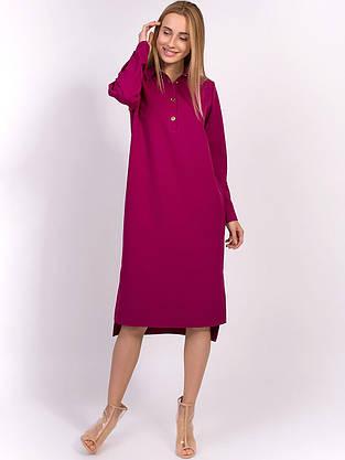 Платье на пуговицах с отложным воротником 2846, фото 3