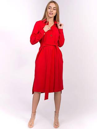 Платье на пуговицах с отложным воротником 2846, фото 2