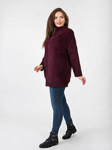 Шерстяное пальто на молнии 2768