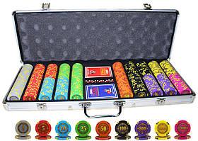 """Набор для покера """"Compass"""" 500 фишек в кейсе"""