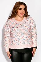 Свитер женский oversize 120PFA340167 (Пудровый), фото 1