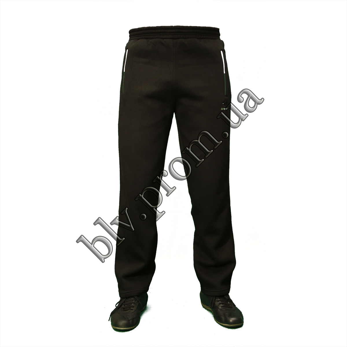 Теплые мужские брюки байка пр-во Турция KD877 Black