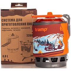 Система для приготовления пищи на 0,8 лTRG-049. Горелка туристический. Горелка