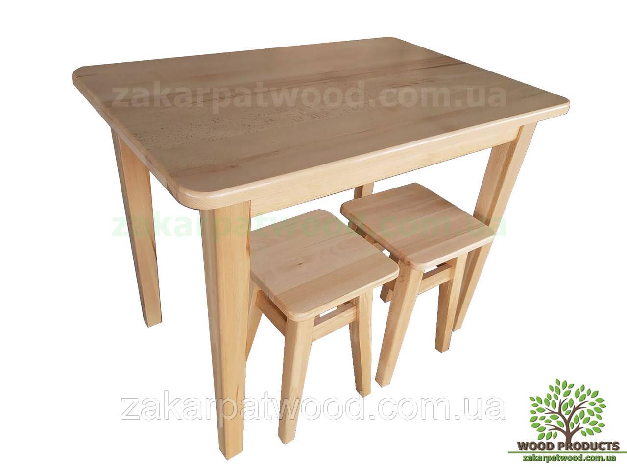 Обідній комплект (стіл +4табурета) 1400*650мм