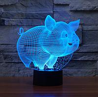 """3D светильник / ночник """"Поросёнок"""""""