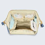 Сумка - рюкзак для мамы Панда, синий ViViSECRET, фото 3