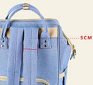 Сумка - рюкзак для мамы Панда, синий ViViSECRET, фото 4