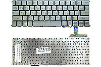 Клавиатура для ноутбука Acer Aspire S7-191 серая без рамки Прямой Enter Подсветка (MP-12A53SUJ4422)